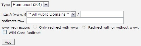 add redirect
